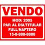 Vinilo - Sticker - Calco - Cartel Venta De Auto X 3 Unidades