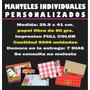 Manteles X10.000 Individuales Personalizados Bares, Resto