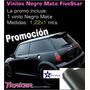 Vinilo Negro Mate 122x1m Ploteos Autos Techos Traker Insumos