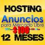 Hosting Plantillas E Imagenes Mercado Libre 12 Meses