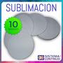 Posa Vasos Sublimable Circular De Goma Y Tela X10 Unidades