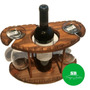 Barcito Para Vino Con 2 Copas - Madera - Regalos