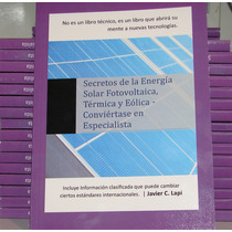Libro Energía Solar Y Eólica Mas Un Panel Solar Solartec 3wp