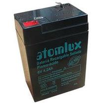 Bateria Para Luz De Emergencia Atomlux 6 V Recargable Ups