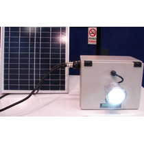 Farol Led Con Panel Solar Para Iluminación Cercos Perimetral