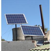 Casa Con Paneles Solares Energia Renovable Luz Tv Celular