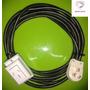 Alargue Prolongador 5 Metros Cable 2,5mm X 3 Ficha 20 Amp