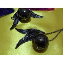 Reloj Collar Harry Potter Quidditch Ball Snitch Negra