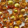 553a- Lote De 5 Zafiros Naranjas De 2,9mm Redondos Facetados