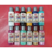 Acrílico Decorativo Ad X 50ml.colores Comunes/metalizados
