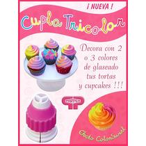 Cupla Tricolor Parpen Cupcake Reposteria