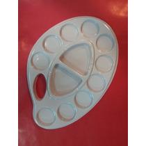 Paleta Mezcladora De Plástico Ovalada 12 Cavidades