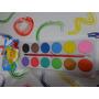 Paleta Acuarelas + Pincel X 12 Colores Escolares