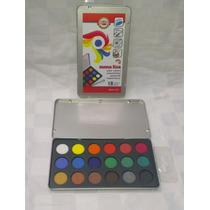 Acuarelas En Estuche Metal Koh-i-noor Mona Lisa X 18 Colores