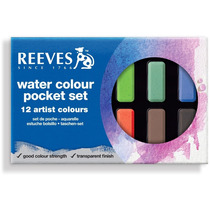 Set Acuarelas Pocket En Pastillas X 12 Colores + 1 Pincel