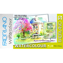 Papel Para Acuarela Fabriano Watercolour Block 25x35 Cotton