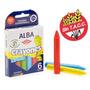 Crayones Gruesos Escolares Alba Kinder X 6 Colores