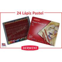 Lata 24 Lapices Pastel Tiza Derwent Inglaterra