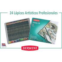 Lata 24 Lapices Artisticos De Colores Derwent Inglaterra