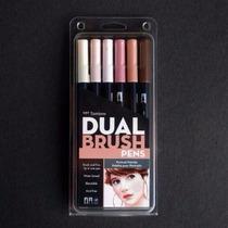 Tombow Dual Brush Pen Set, Para Dibujar Rostros