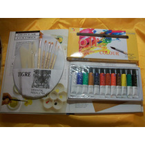 Kit De Pintura Pinceles+paleta+espatulas +oleos Ó Acrilicos