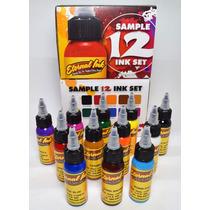 Kit Eternal Sample Set 12 X 1oz-tintas Pigmentos Tattoo Usa