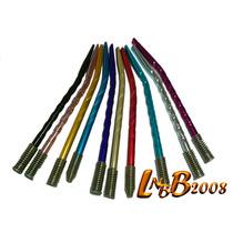 Bombillas Color Anodizadas Niqueladas ($4,80 C/u) Pack 30 U