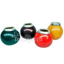 Mates De Calabaza Natural O De Color C/ Virola De Aluminio