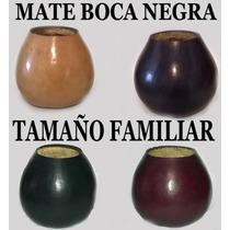 Mates Calabaza Tamaño Familiar Boca Negra Souvenir Oferta !