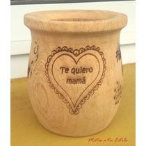 Dia De La Madre Regalo Mate Madera Grabado Full Presentacion
