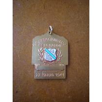 Medalla Con Esmalte De Obras Sanitarias De La Nacion 1941