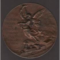 Medalla Ferrocarril Andino A Dolores 1904 Exc-