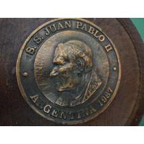 Medallon Visita Del Papa Juan Pablo Argentina -1987