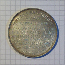 Medalla Dique De Embalse Rio Iii Cordoba 1911 Plata