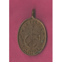 Medalla Fiesta Escuelas Italianas A Bordo Barco Savoia 1901