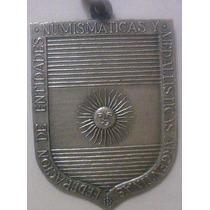 Medalla De La Federacion Entidades Numismaticas En Su Fund.