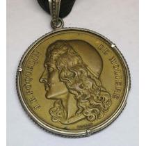 Moliere Interesante Y Antigua Medalla Firma Domard 53 Mm