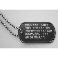 Chapas De Identificacion Militar Originales Dog Tags