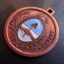 Medalla En Cobre Y Esmalte Escudo Argentino, Nueva.