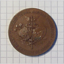Medalla Tratado De Paz Bolivia Chile 1904 28,7 Grms 38 Mm