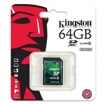Memoria Sd Xc Kingston 64 Gb Clase 10 - 100% Originales Gtia