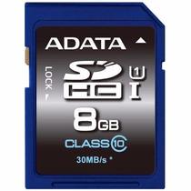 Tarjeta Memoria Adata Clase 10 Sdhc 8gb 30mb/s Uhs-1 Sd Hd