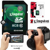 Tarjeta De Memoria Sdhc 8gb Clase 10 Camara Digital Kingston