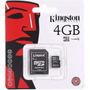 Memoria Micro Sd 4gb Kingston Hc Clase 4 Microsd Adaptador