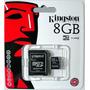 Memoria Kingston Micro Sd Hc 8 Gb Original Garantía 5 Años!