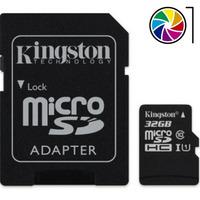 Tarjeta/memoria+adaptador Kingston Micro Sd Hc 32gb Clase 10