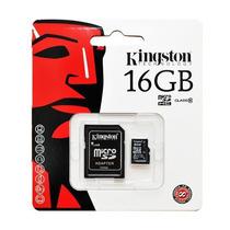 Memoria Micro Sd 16 Gigas Hc Clase 10 Kingston En Caseros