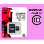 Memoria Micro Sd Kingston Hc 32gb - Clase 10