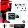Memoria Microsd 16gb Kingston Celular Cam + Pendrive Regalo!