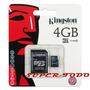 Memoria Micro Sd 4 Gb Hc Clase 4 Adaptador Sd Kingston Gtía